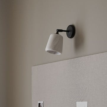 Material, The Black Sheep, Wall Lamp, W13 x D18cm, White Marble
