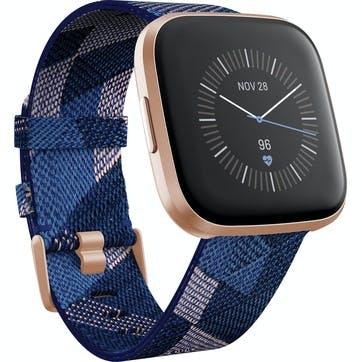 Versa 2 SE Smart Watch, Navy & Pink Woven