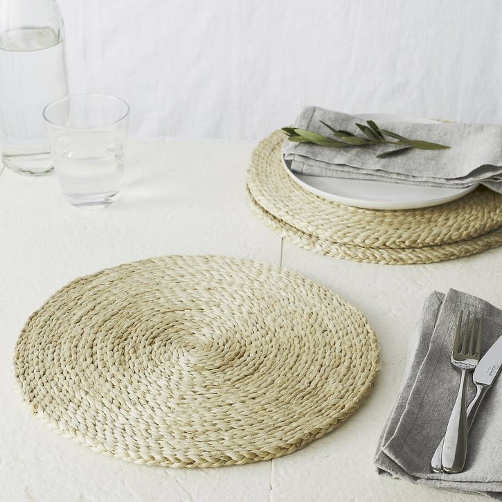 Jute Woven Placemat, Natural