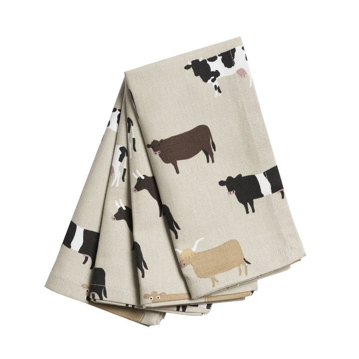 'Cows' Napkins, Set of 4