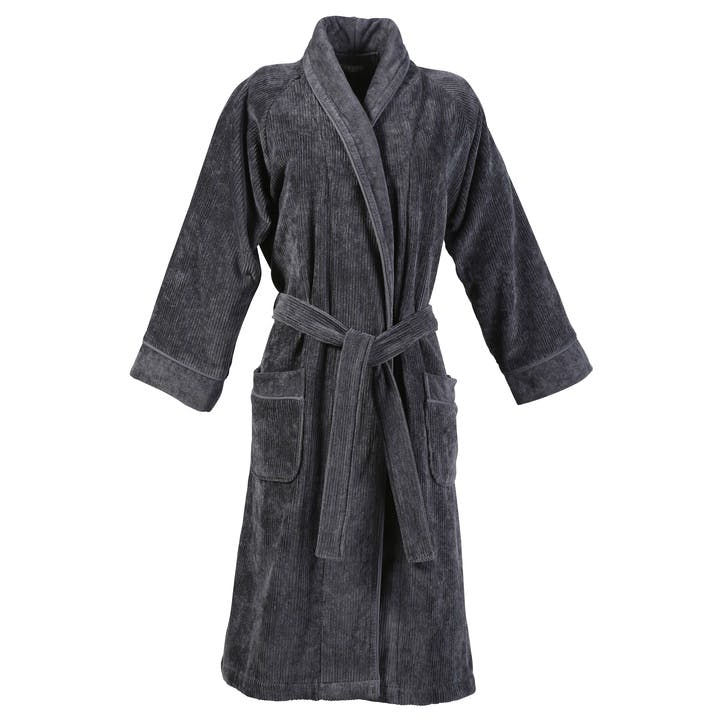 Luxury Egyptian Robe, Large/Extra Large, Graphite