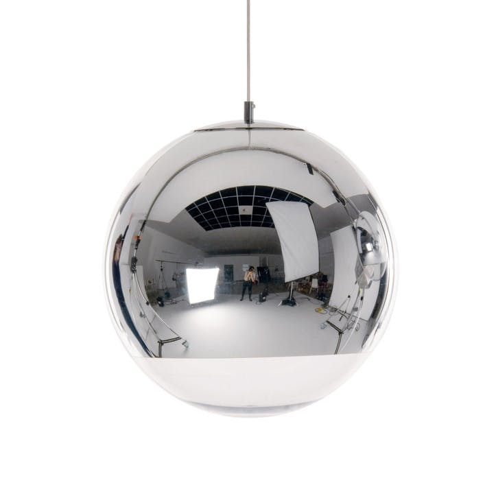 Mirror Ball Pendant Light, 40cm, Chrome
