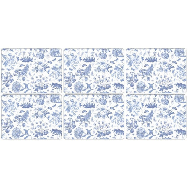 Botanic Blue Placemats, Set of 6