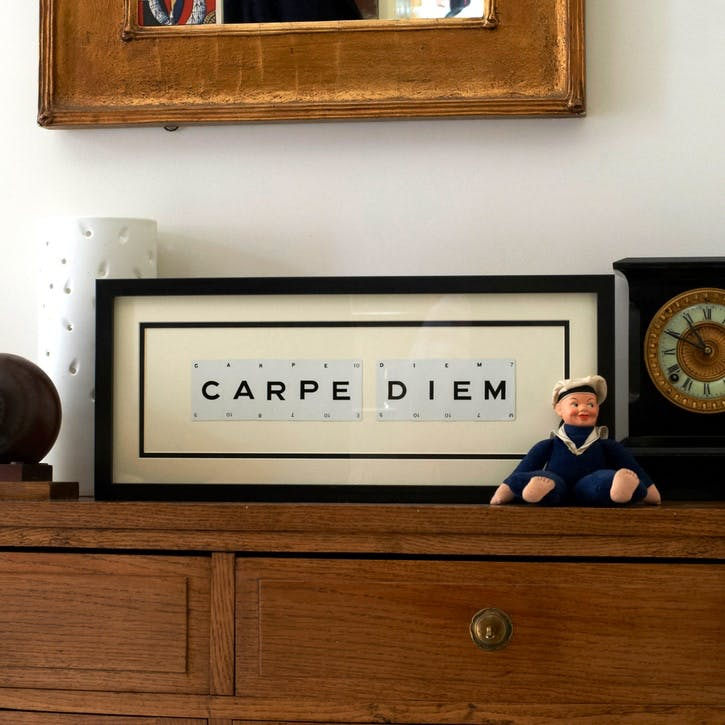 'Carpe Diem' Word Frame