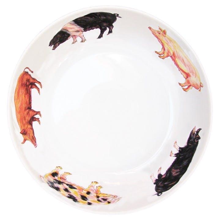 Pigs Round Bowl - 24cm
