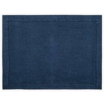 Linen Placemat; Midnight Blue