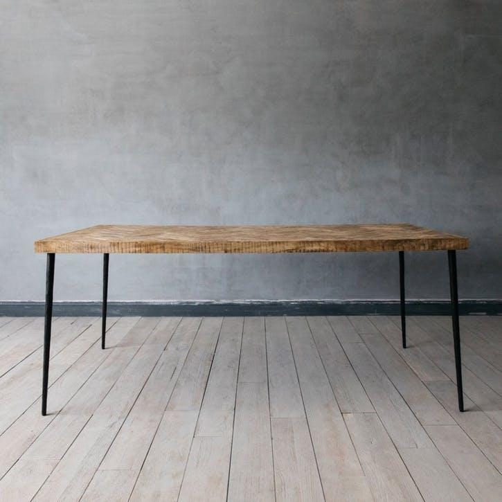 Amaliah Chevron Dining Table