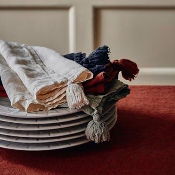 Rosa Linen, Set of 4 Napkins, Sage