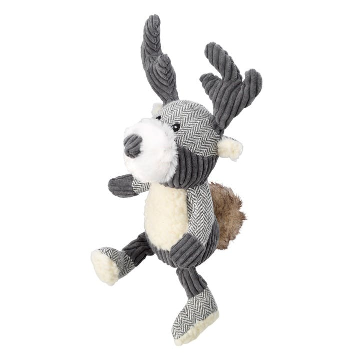 Bushy Tail Tweed Stag Dog Toy