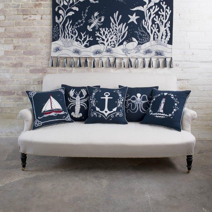 Seaside Lobster Cushion