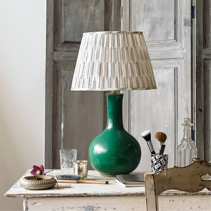 Nellie Table Lamp in an Emerald Glaze, 34cm