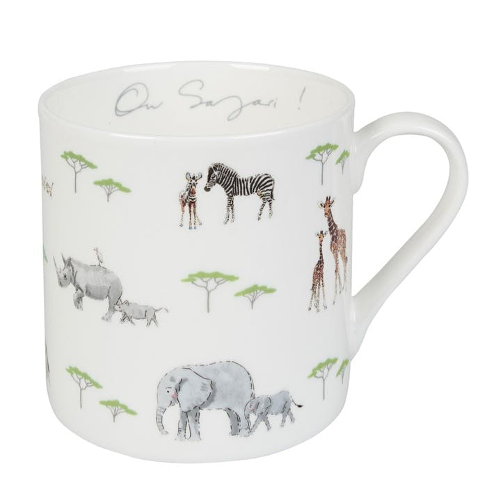 'Safari' On Safari Mug - Large; White