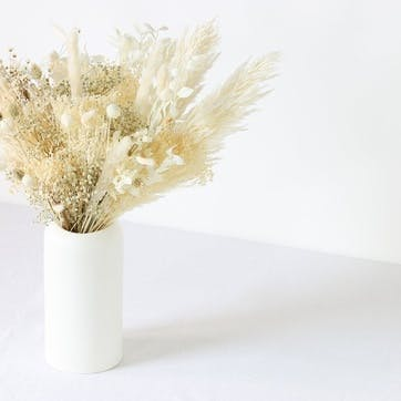 Hand-Tied Large Bouquet, Natural Whites
