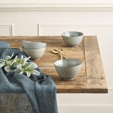 Jewel Linen Tablecloth; Petrol Blue