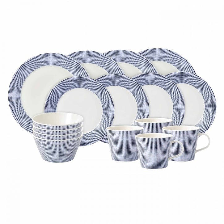 Pacific Dots Dinner Set, 16 Pieces