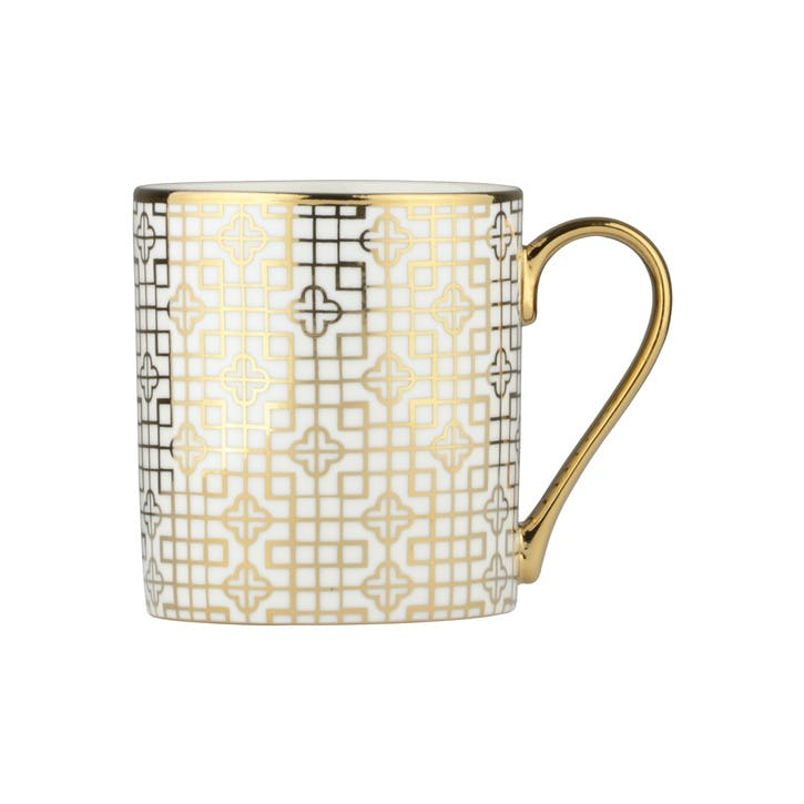 Art Deco Mug, Gold