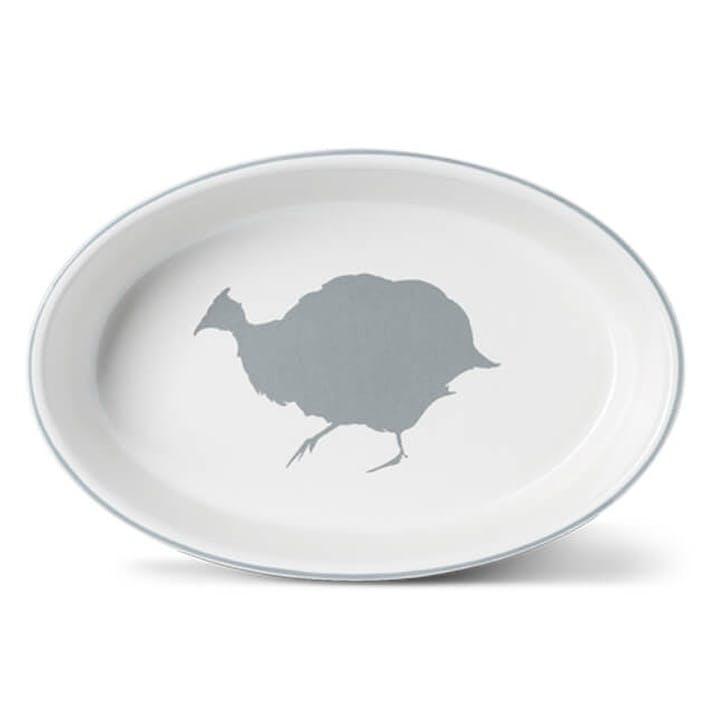 Guinea Fowl Oval Dish