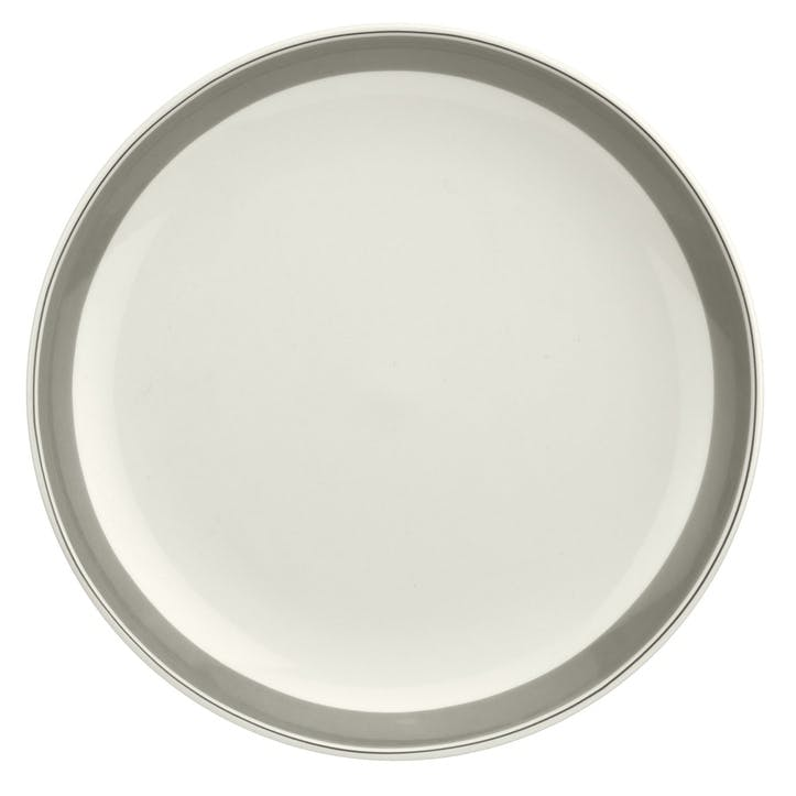 "Westerly Coupe Plate, Set of Four - 10.5""; Grey Band"