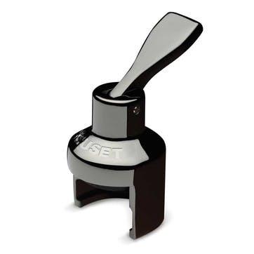 Sparkling Wine Crown Stopper; Black Nickel