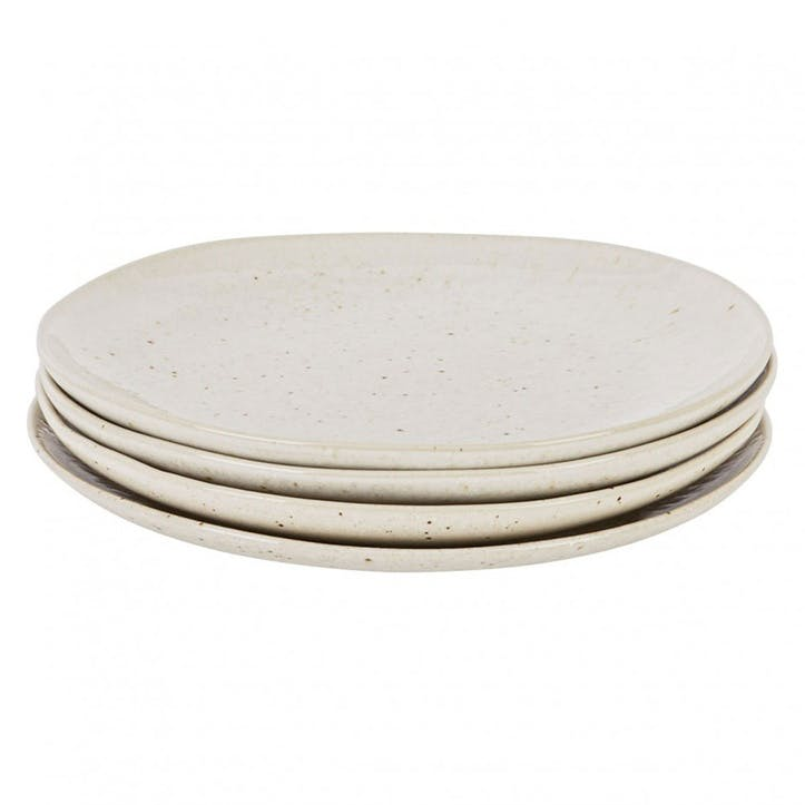 Olmo Side Plates, Set of 4, Beige