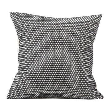 Classic Clarendon Cushion - 40cm;  Linen On Black,