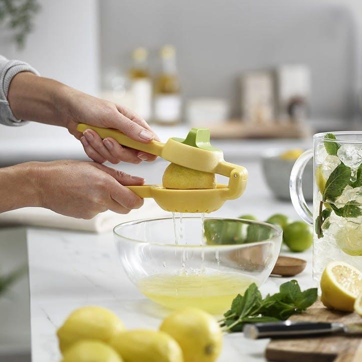 JucieMax, Dual-Action Citrus Press, Yellow