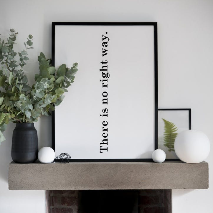 'The Right Way' Print - 50 x 70cm