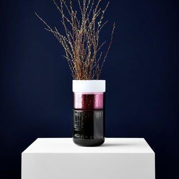 Pi-No-Pi-No, Complete Vase Set, H25 x W13cm, Grey/Fuchsia/Opal White