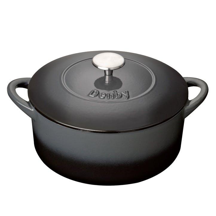 Cast Iron Halo Round Casserole Dish, 26cm