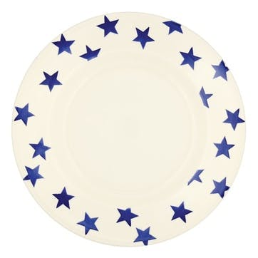 Blue Star Plate, 27cm