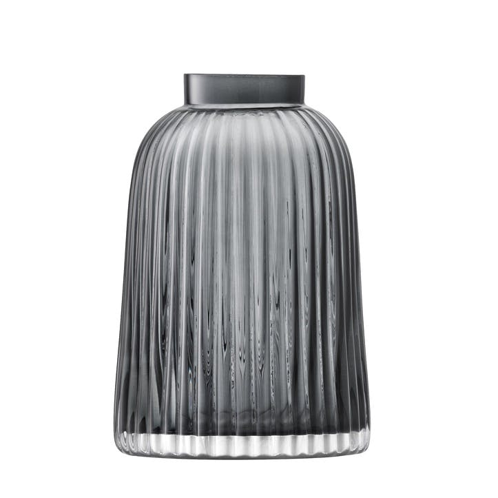 Pleat Vase - 20cm; Grey