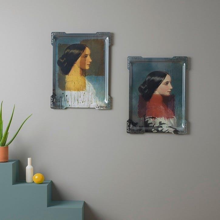 Galerie de Portraits Large Rectangular Tray Ida 1