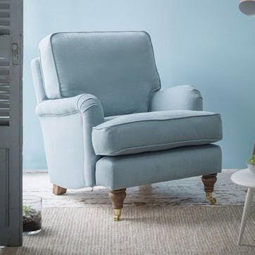 Bluebell Armchair, Taupe Brushed Linen