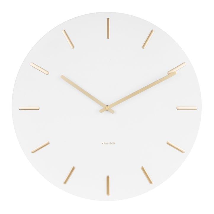 Charm Wall Clock, White