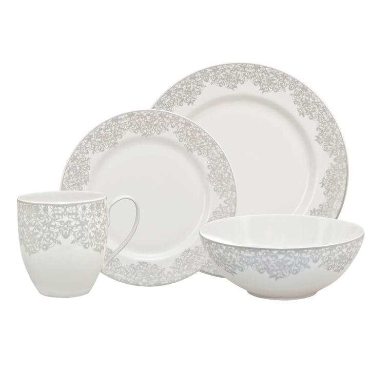 Filigree Silver 16 Piece Dinner Set
