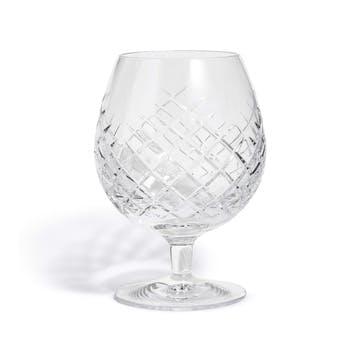 Barwell Cut Crystal, Brandy Glass, Clear