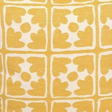 Bloom Oven Glove; Mustard and Cream