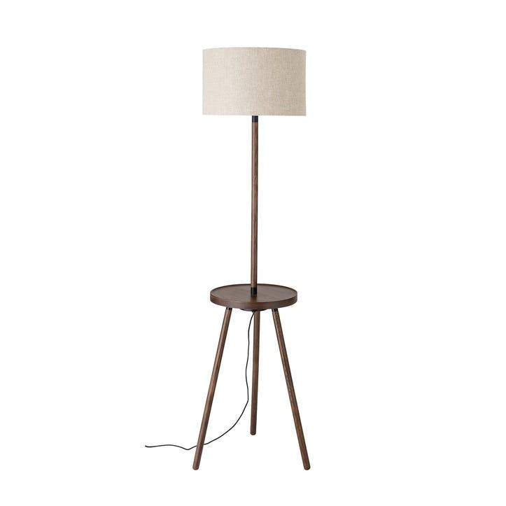Brown Ash Floor Lamp