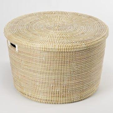 Round Storage Basket, Large, Natural