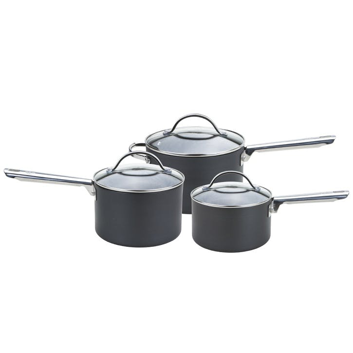 Professional 3 Piece Saucepan Set