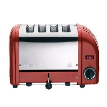Classic Vario 4 Slot Toaster, Red