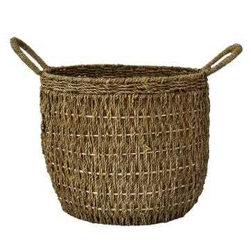 Seagrass, Lined Baskets Large, Natural