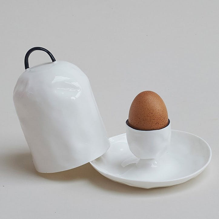 Cobalt Egg Cup with Lid