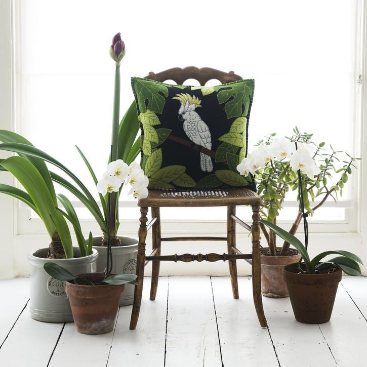 Tropical Cockatoo Cushion