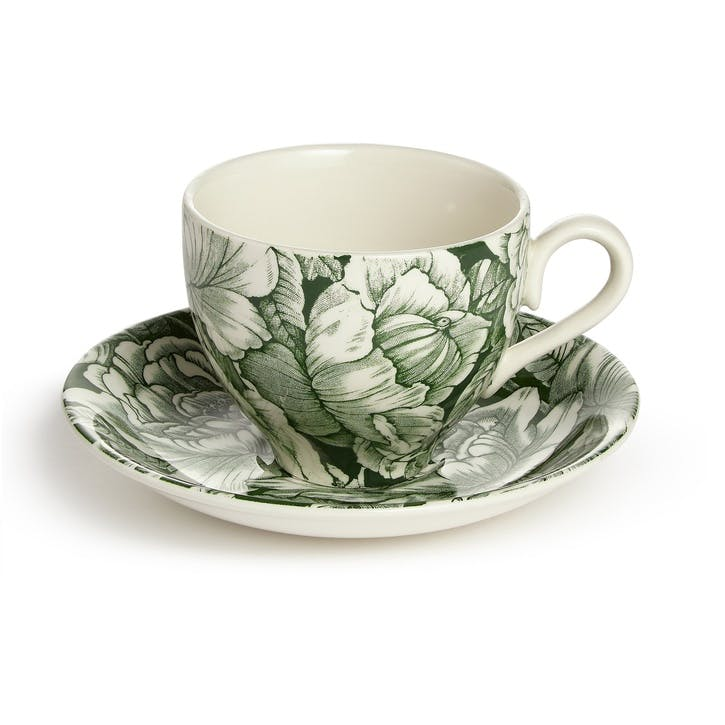 Burleigh Hibiscus Teacup and Saucer