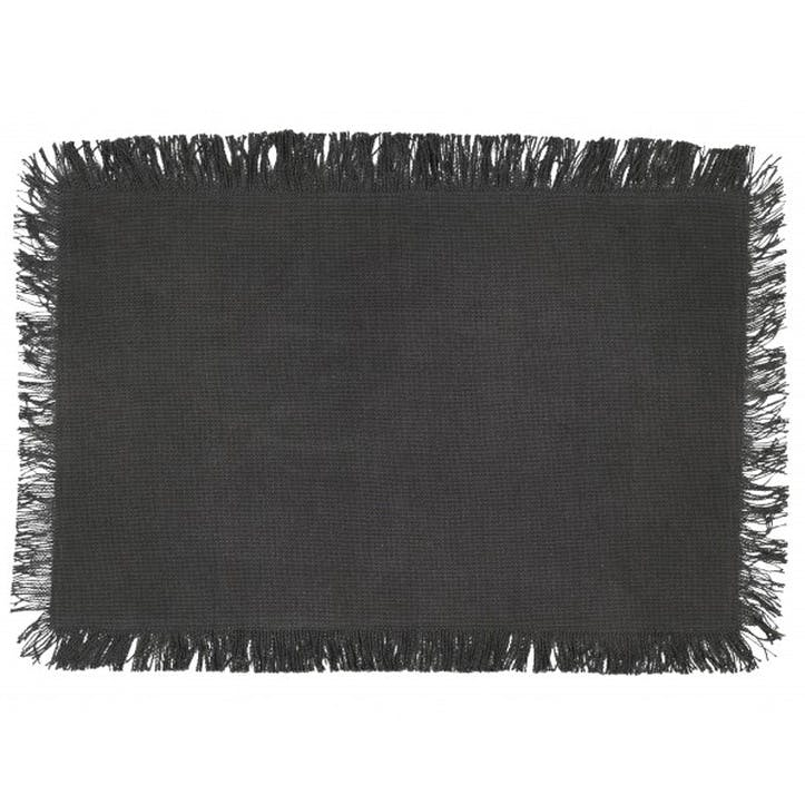 Jute Placemat, Charcoal