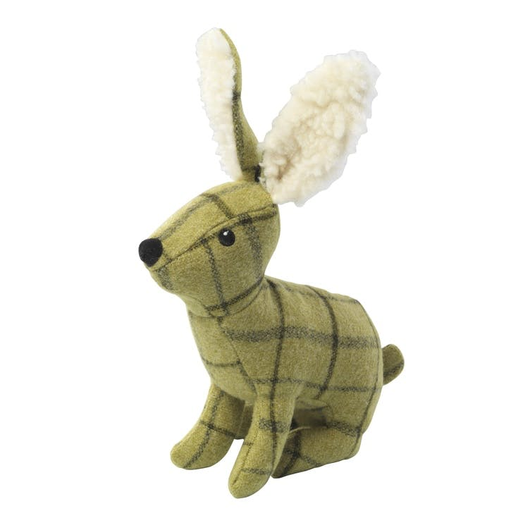 Tweed Plush Hare Dog Toy