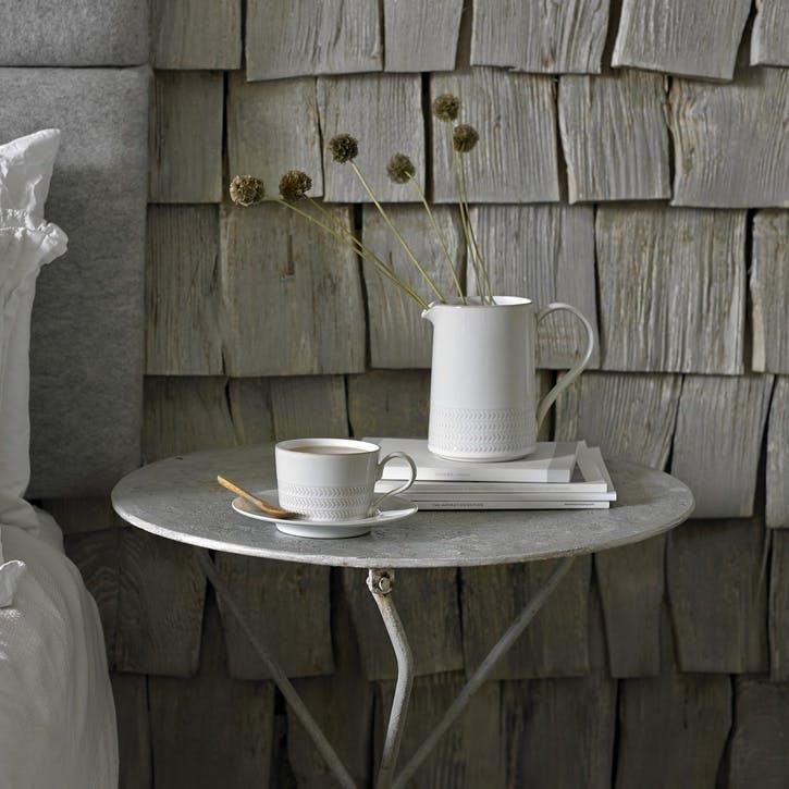 Natural Canvas Textured Medium Jug, 570ml, Cream