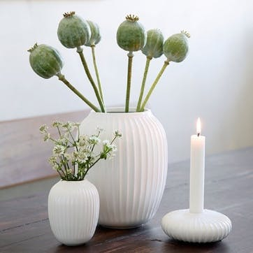 Hammershøi Candle Holder, Mini, White