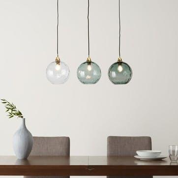 Llaria diner pendant light, H44 x W110 x D44cm, Multi